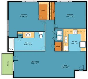 Apartment Floor Plan 4
