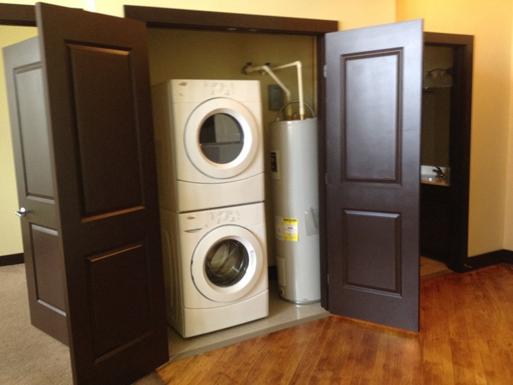Stacked Washer & Dryer in Unit