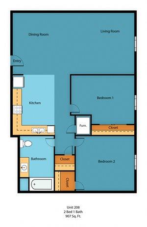 Apartment Floor Plan 2