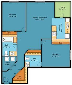 Apartment Floor Plan 3