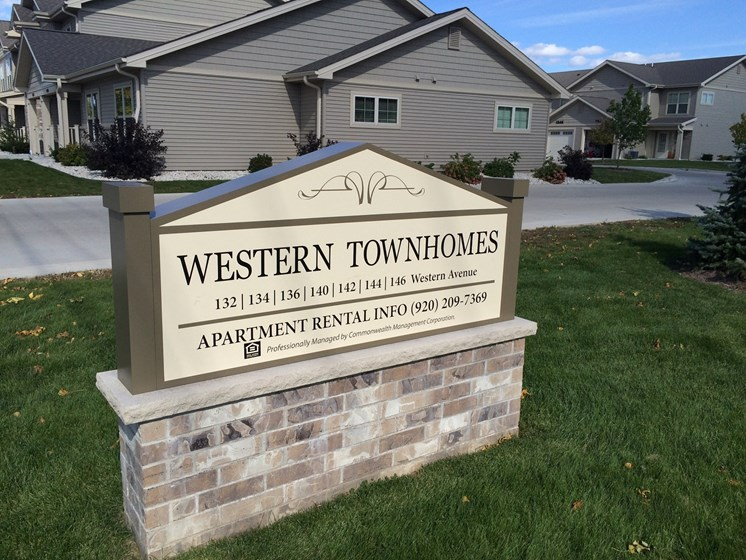 Western Townhomes monument sign