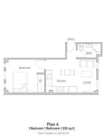 1 Bedroom - Junior - Plan 4