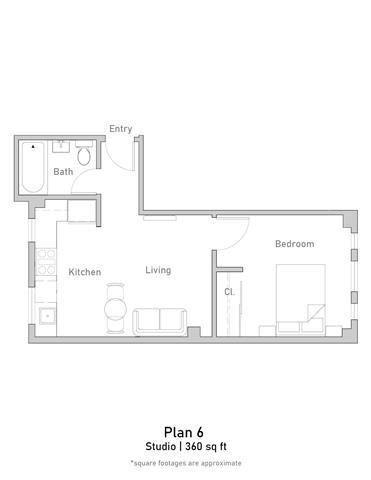 1 Bedroom - Junior - Plan 6