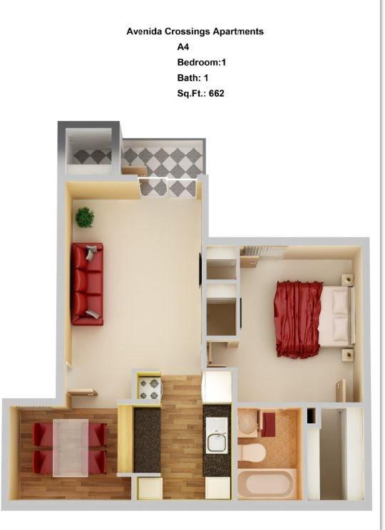 A4  1+1 Floor Plan 4