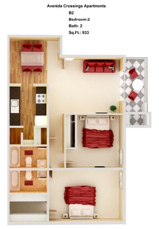 B2  2+2 Floor Plan 6
