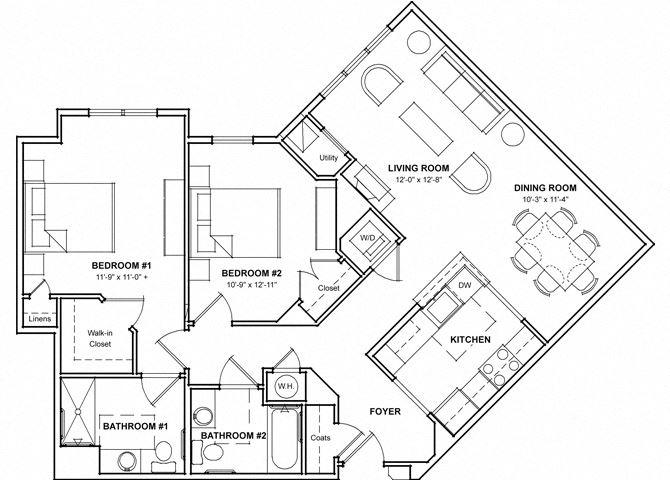 2 Bedroom Floor Plan- 2F