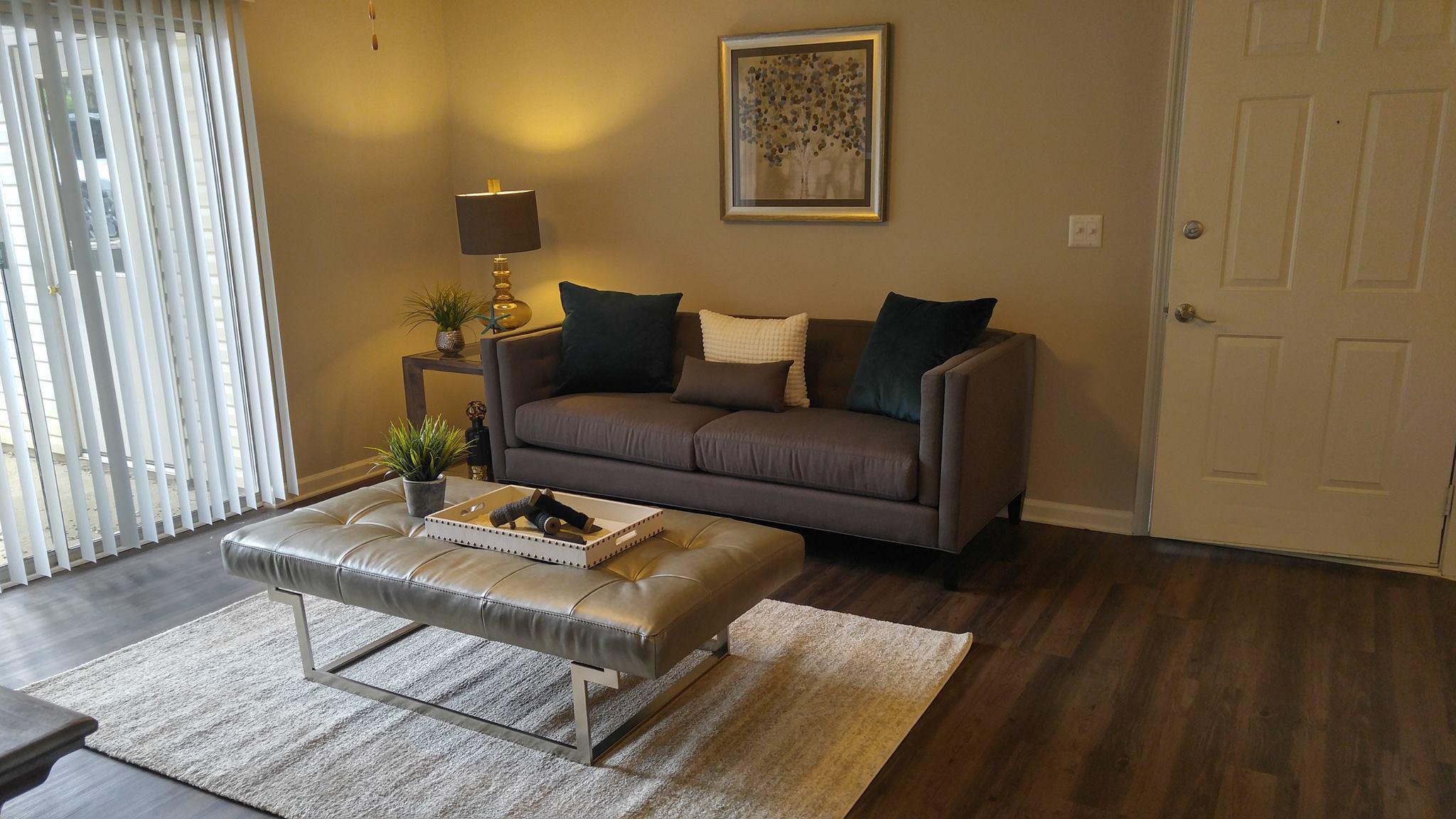 Fully Furnished Model Unit, Living Room. Guest Bedroom. Park At Boulder  Creek Apartments | Columbia, SC