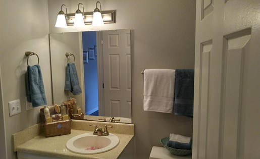 Large Bathroom with Full Vanity and mirror