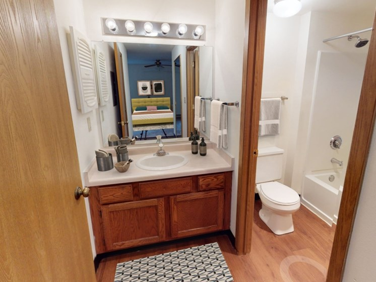 Aspen bathroom with vanity area