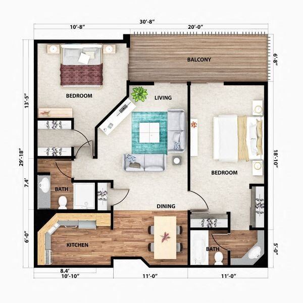The Blue Ridge Floor Plan 5