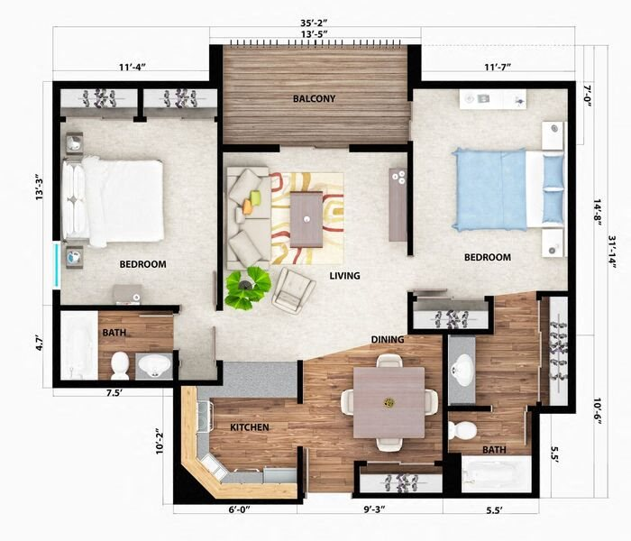 The Cascade Floor Plan 3