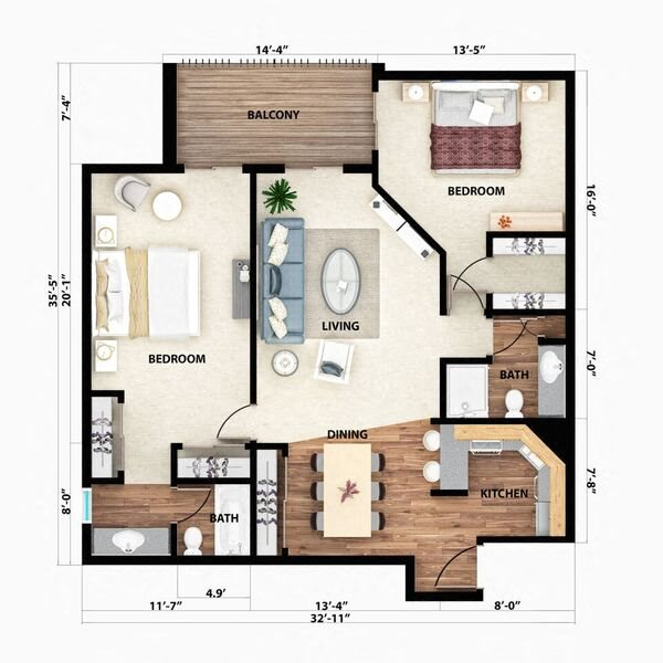 The Diamondhead Floor Plan 4