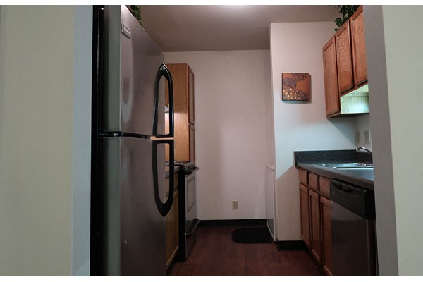 Fully Equipped kitchen at Mountain Village Apartments, Waukesha