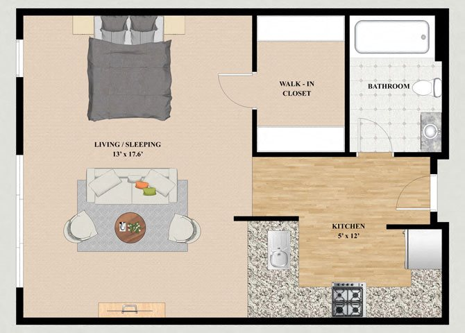 Shashta Studio Floor Plan at Mountain Village