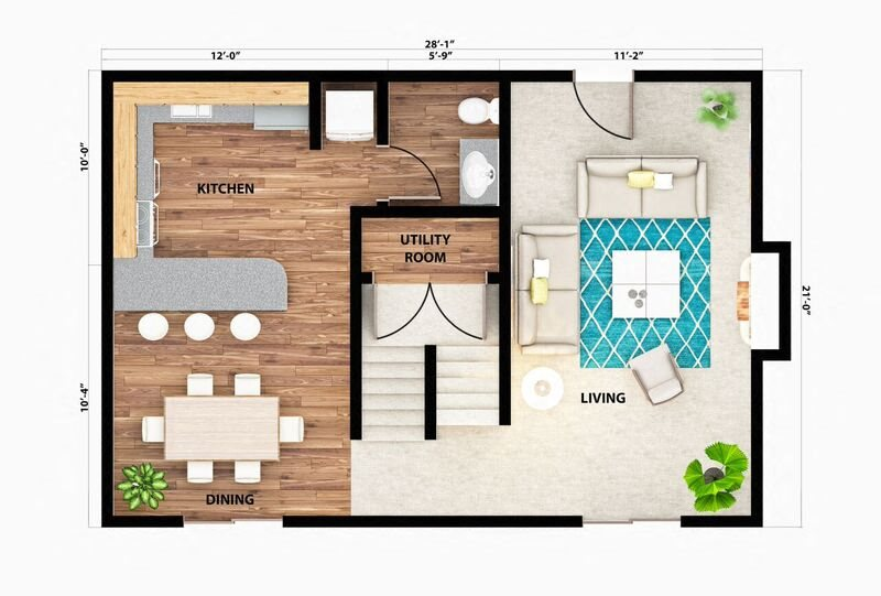 The Teton Townhome Floor Plan 6