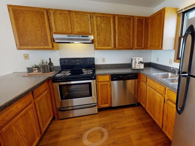 Teton kitchen with stainless steel appliances