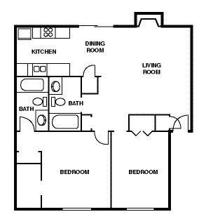 2 Bedroom Apartment Floor Plans 600 Sq Ft 700 Sq FT 2 Bedroom