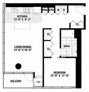 1 Bedroom. 1 Bathroom.