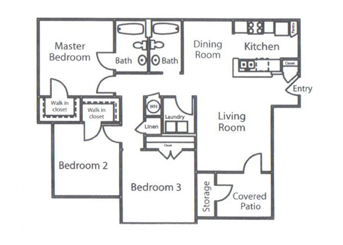 Floor plans of dobbins hill apartment homes in chapel hill nc for Dobbins homes floor plans