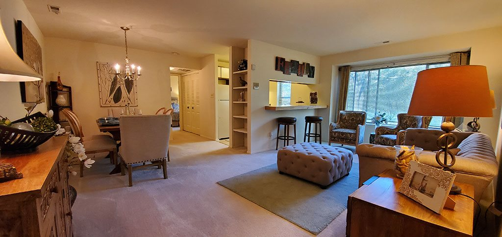 Overview of two bedroom apartment