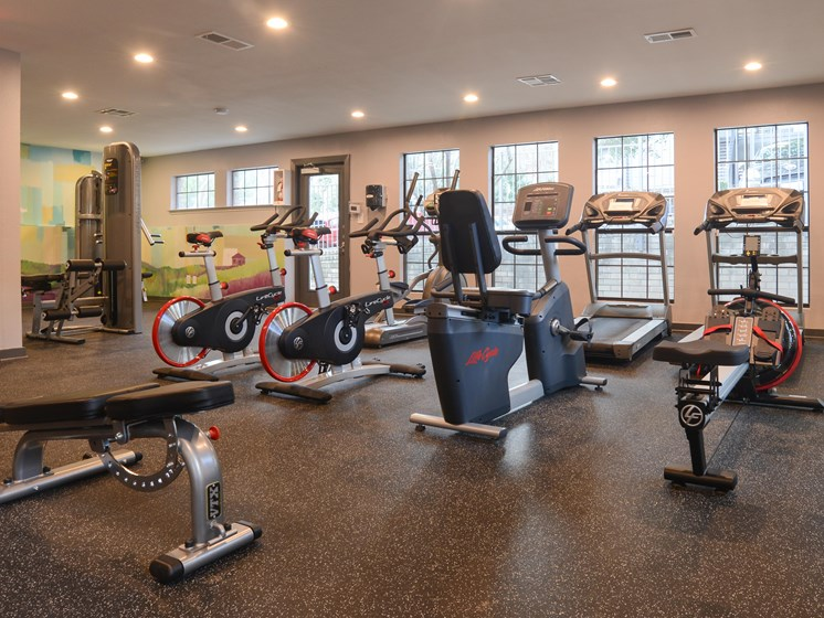 fitness center in our east riverside apartments