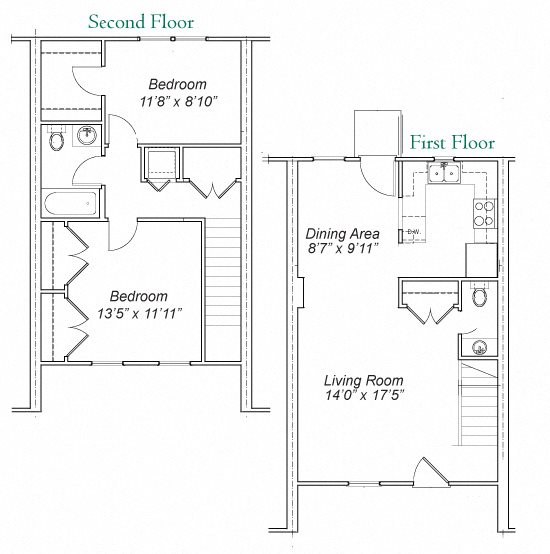Huntington Creek Apartments: Floor Plans Of Hunting Creek Townhouse Apartments In