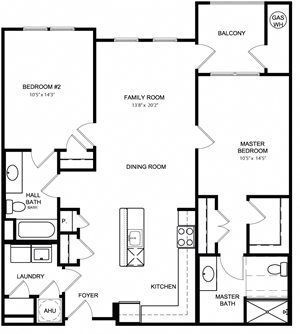 Riverwoods at Lake Ridge 2 Bedroom Floor Plan Belvoir