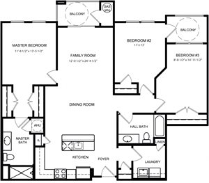 Riverwoods at Lake Ridge 3 Bedroom Floor Plan Stonebridge