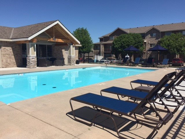 Swimming Pool with Lounge Chairs, at Lakeview Park, 510 Surfside Drive, NE 68528