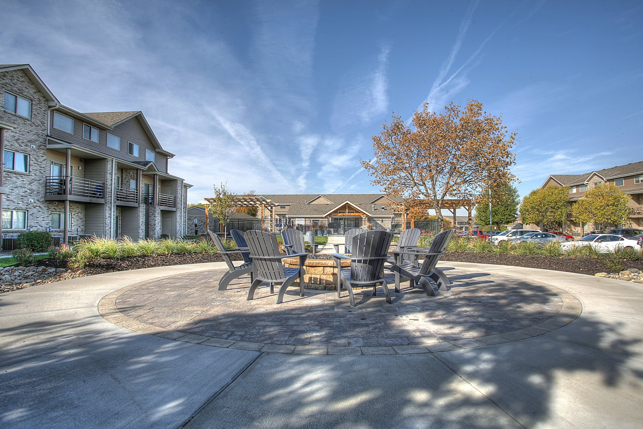 Relaxing Area with Fire Pit, at Lakeview Park, 510 Surfside Drive, Lincoln, 68528