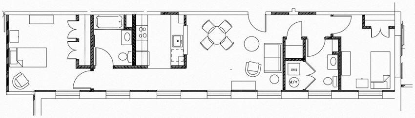 Clare Court 2 Bedroom Floor Plan - 2G