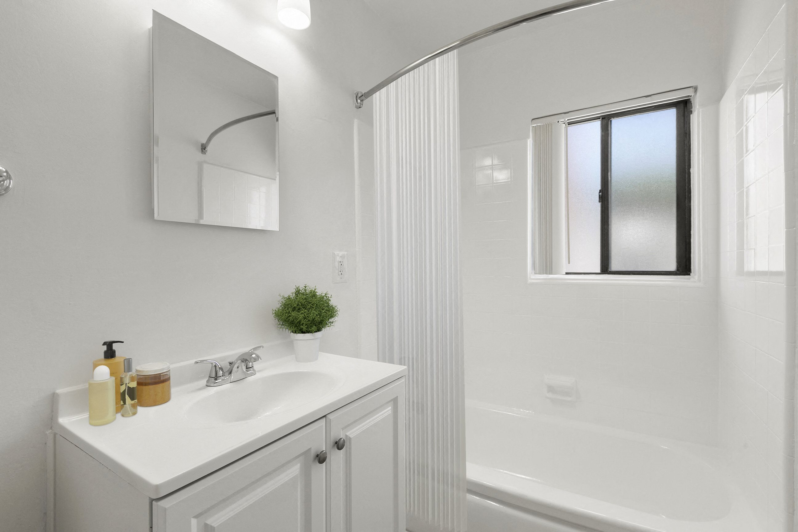 Bathroom at Pacific Rose Apartments, 10705 Rose Ave, Los Angeles, CA 90034