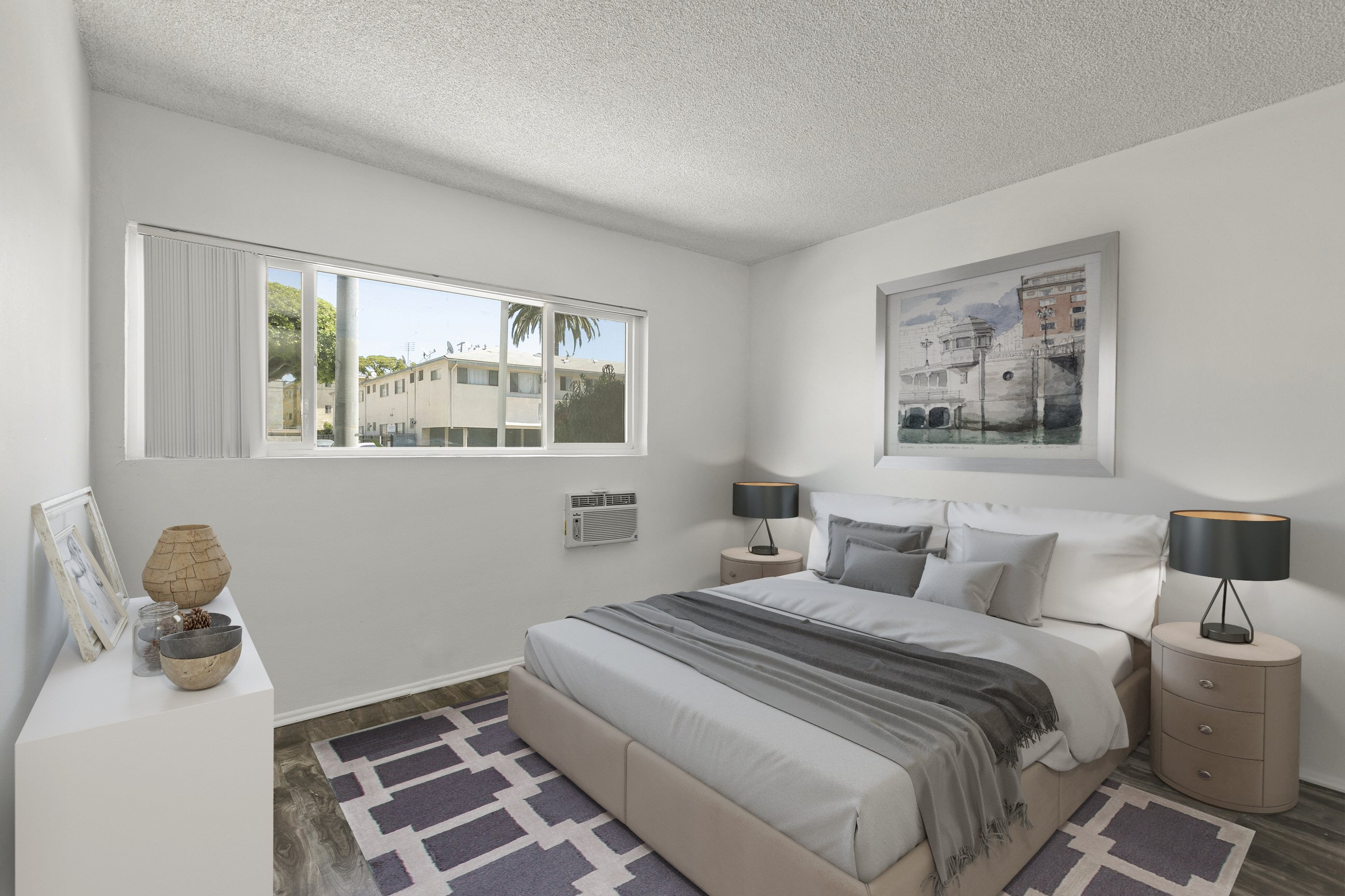 Bedroom at Pacific Rose Apartments, 10705 Rose Ave, Los Angeles, CA 90034