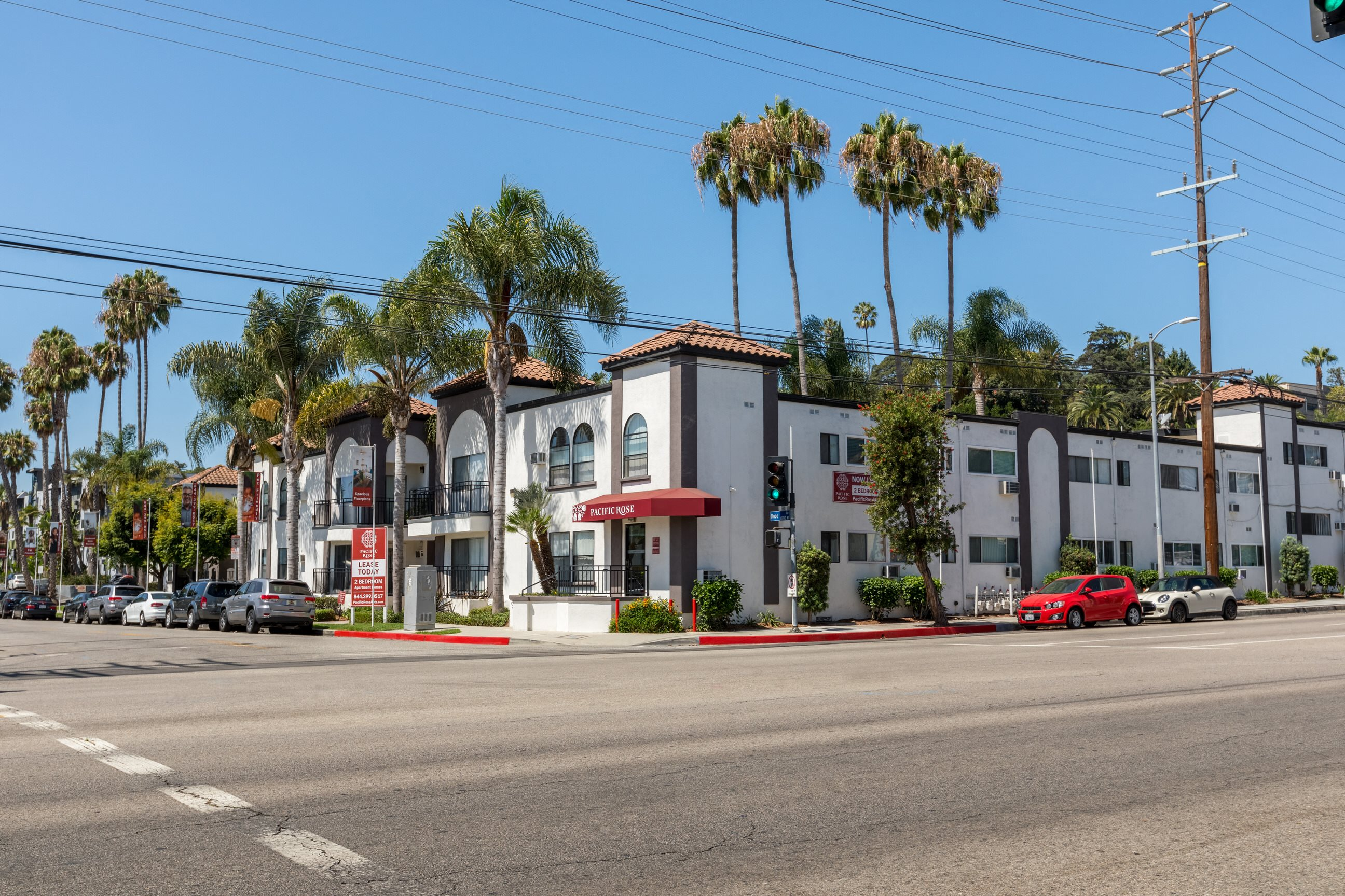 Exterior Photo of Pacific Rose Apartments, 10705 Rose Ave, Los Angeles, CA 90034