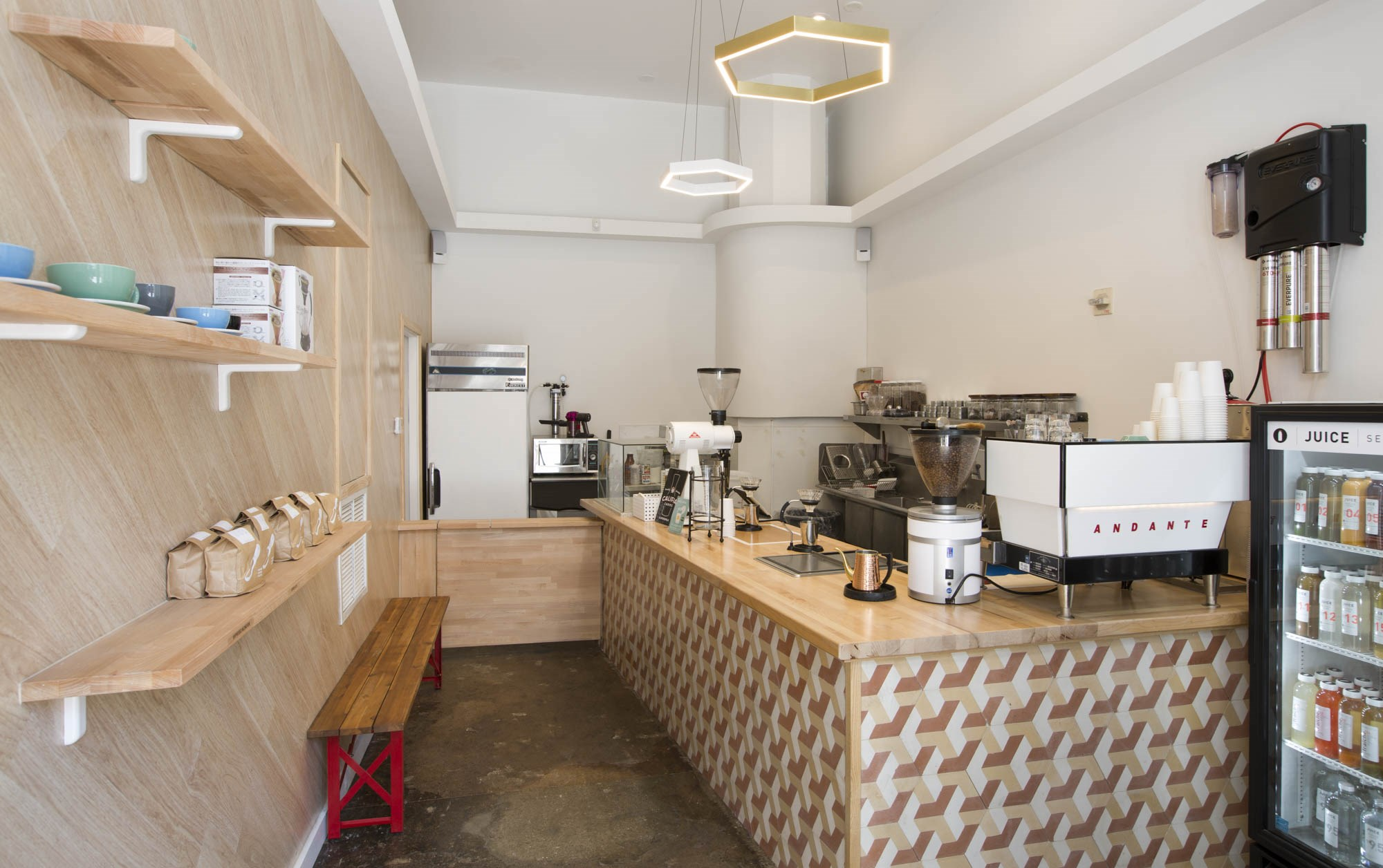 Onsite Coffee Shop and Cafe at South Park Lofts, 818 South Grand Ave  Los Angeles, CA 90017