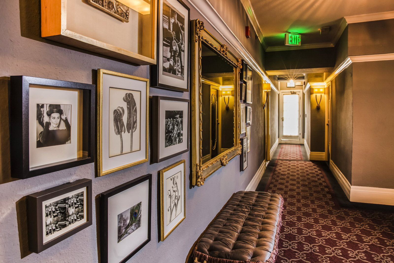 Close Up Photo of Vintage Corridors at Hollywood Tower Apartments 6200 Franklin Ave, Los Angeles, CA 90028