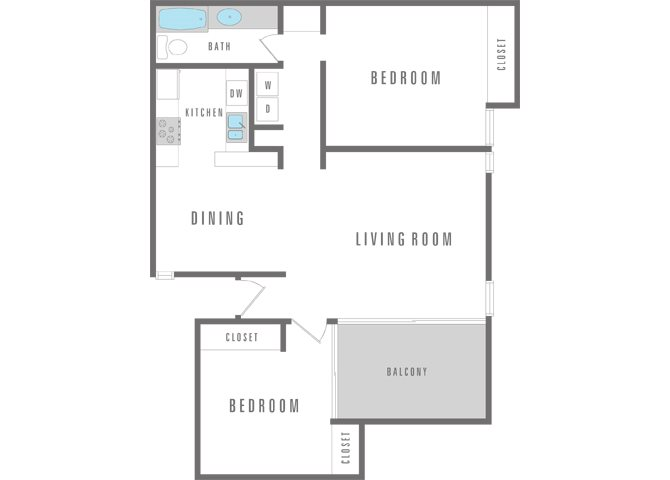2 Bedroom 1 Bath Floor Plan 8
