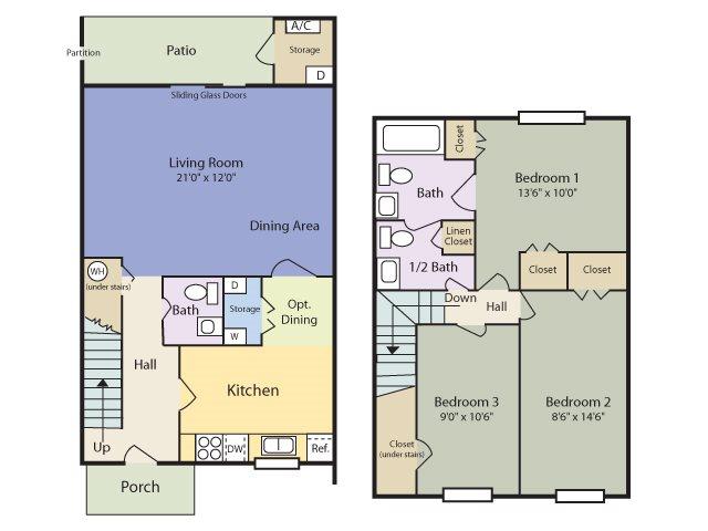 The Echo Townhome Floor Plan 5