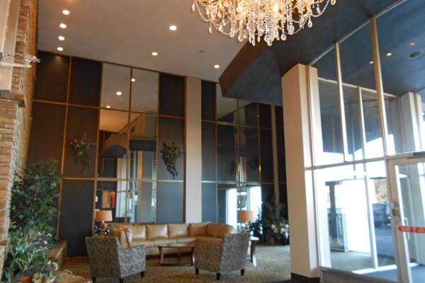 Lobby with Crystal Chandelier