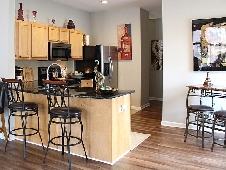 The Resideces at 668 Ugraded Model with Hard Surface Flooring at The Residences at 668, Cleveland, OH, 44114