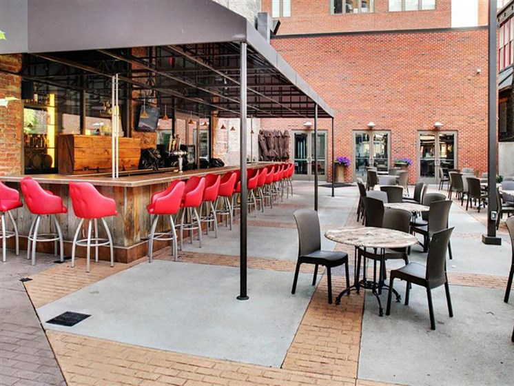 The Resideces at 668 - Outdoor Restaurant Patio at The Residences at 668, Cleveland, 44114