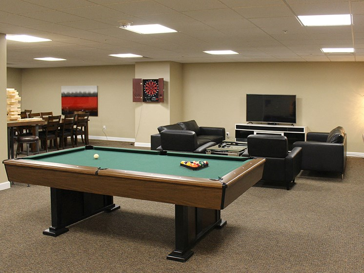 Billiards Table In Clubhouse at Residences At 1717, Cleveland, 44114