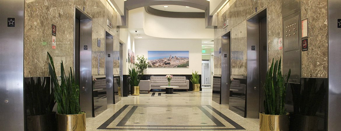 Stylish Lobby at Residences At 1717, Ohio