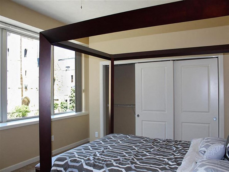 Comfortable Bedroom With Closet at Residences At 1717, Cleveland, OH
