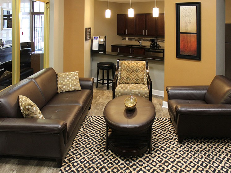 Comfortable Seating Area at The Residences At Hanna, Cleveland, Ohio