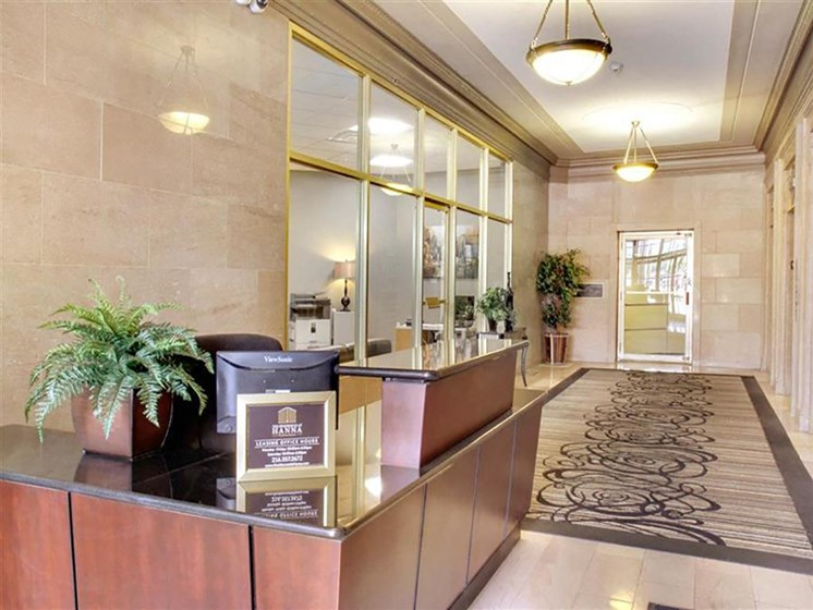 Inviting Reception Area at The Residences At Hanna, Cleveland, 44115