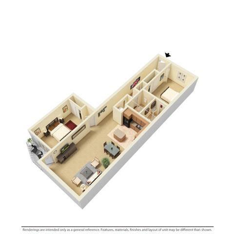 Suite Style C Floor Plan at Stonebridge Waterfront, Cleveland, Ohio