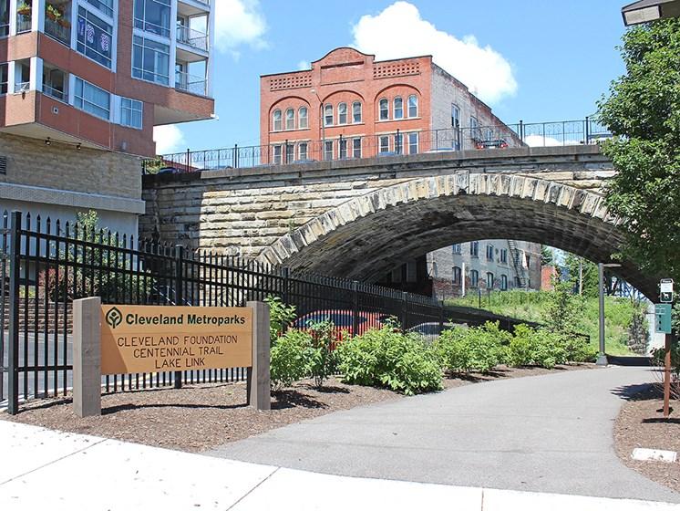 Town path Signage at Stonebridge Waterfront, Cleveland, Ohio