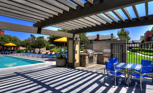 Pergola Lounge Area Poolside