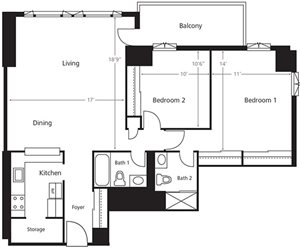 Two Bedroom A2